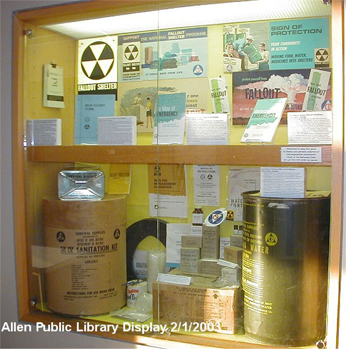 Civil Defense Stuff In Display Case