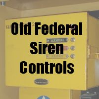 Old Federal Siren Controls
