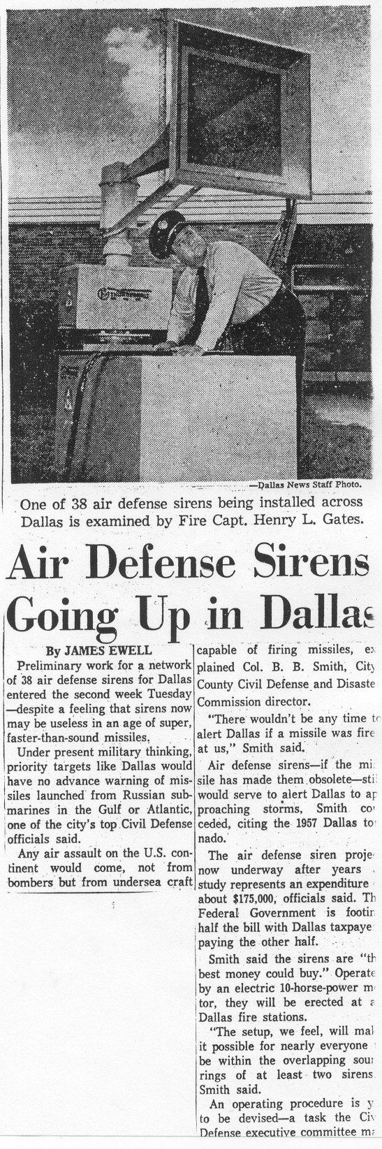 Civil Defense Museum Warning Sirens City Of Dallas
